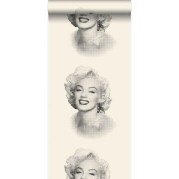 tapet Marilyn Monroe hvidt og sort