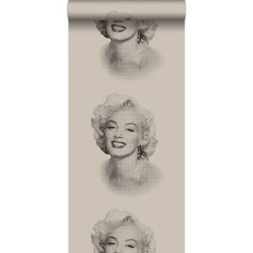 tapet Marilyn Monroe gråt og sort