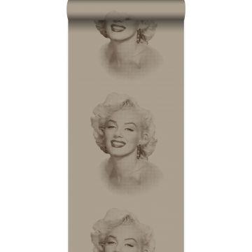 tapet Marilyn Monroe skinnende bronze