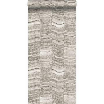 tapet zig-zag-striber af lagdelt marmor lysegråt