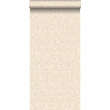 tapet ornament antikhvidt