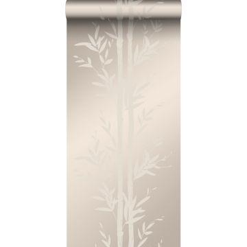 tapet bambus varm sølv