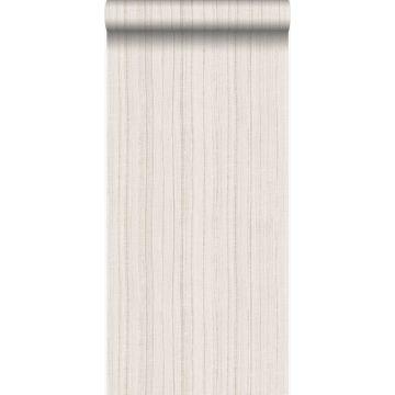 tapet fine regelmæssige striber med sandstruktur beige