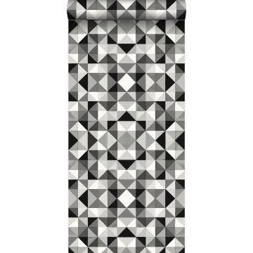 tapet kubisme sort og hvidt