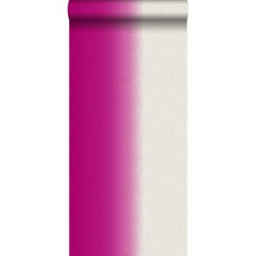 tapet dip dye-motiv lyserødt