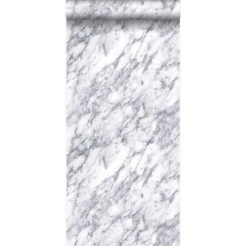 tapet marmor mørkt elfenbenshvidt