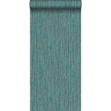 tapet bambus havgrønt