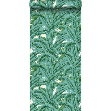 tapet palmeblade grønt