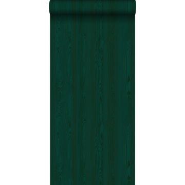 tapet friske træplanker smaragdgrønt