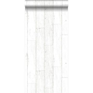 tapet slidte vintage planker af træstumper elfenbenshvidt