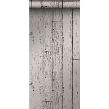 tapet slidte vintage planker af træstumper mørkegråt
