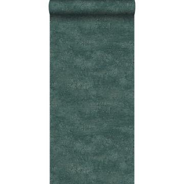 tapet natursten med krakeleret effekt smaragdgrønt