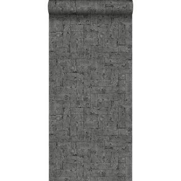 tapet murstensvæg sort