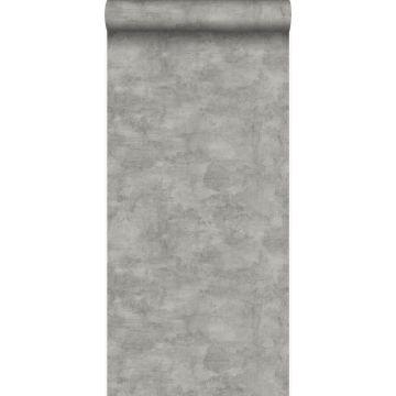 tapet betonlook mørkegråt