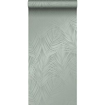 tapet palmeblade gråligtgrønt