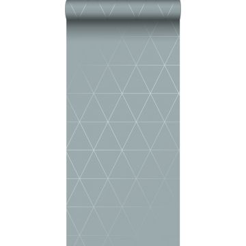 tapet grafiske trekanter gråblåt