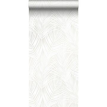 tapet palmeblade hvidt
