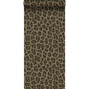 tapet leopardskind brunt og beige