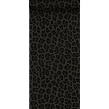 tapet leopardskind mørkegråt og sort