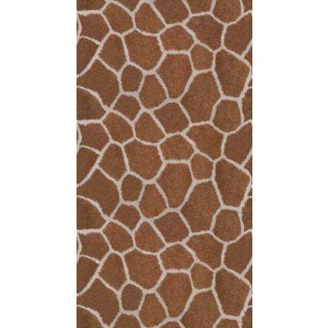 fototapet giraf mønster brunt