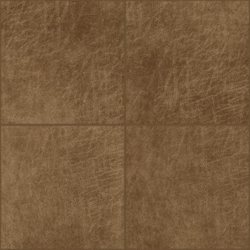 självhäftande väggpaneler eko-läder firkant cognac brun