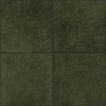 självhäftande väggpaneler eko-läder firkant olivengrønt