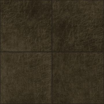 självhäftande väggpaneler eko-läder firkant mørkebrunt