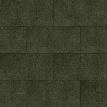 självhäftande väggpaneler eko-läder rektangel olivengrønt