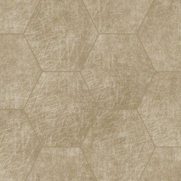 självhäftande väggpaneler eko-läder sekskant sandfarvet
