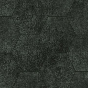 självhäftande väggpaneler eko-läder sekskant antracitgråt
