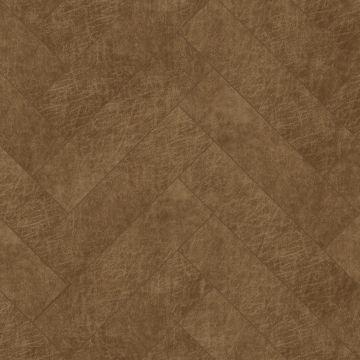 självhäftande väggpaneler eko-läder fiskebensmønster cognac brun