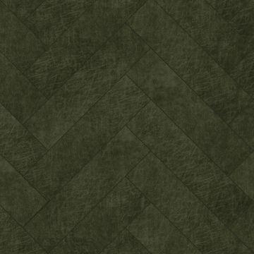 självhäftande väggpaneler eko-läder fiskebensmønster olivengrønt