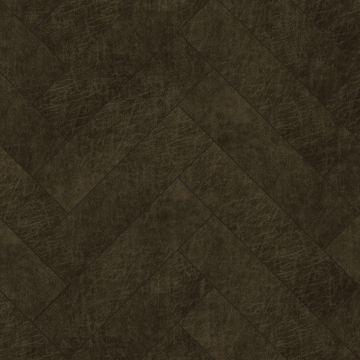 självhäftande väggpaneler eko-läder fiskebensmønster mørkebrunt
